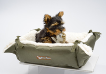 TWO-IN-ONE ARMY GREEN   CAT BED & BLANKET