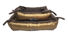 TWO-IN-ONE DUBAI GOLD    CAT BED & BLANKET