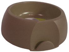 SMALL ROUND BROWN PET BOWL