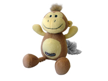 BROWN AND YELLOW MONKEY TOY