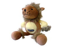 BROWN AND YELLOW LION TOY