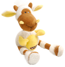 BROWN AND YELLOW SHEEP TOY