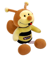 BROWN AND YELLOW BEE TOY