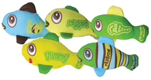 GREEN KITTY FISH HEARING TOY